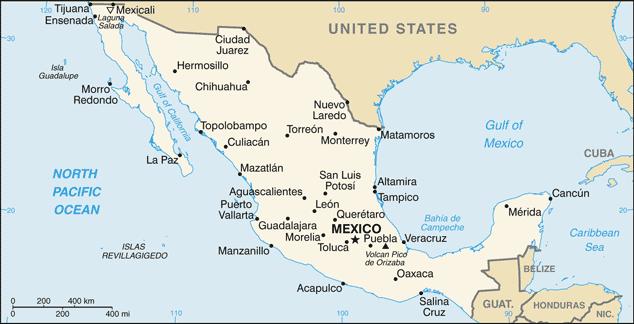 Mexiko karta